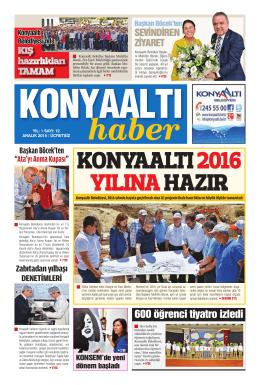 aralık 2015 yıl:1 - Konyaaltı Belediyesi