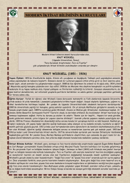 Knut Wicksell - CU Department of Economics