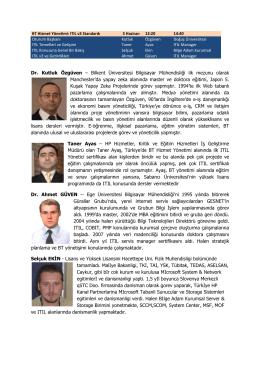 Dr. Kutluk Özgüven - Türkiye Bilişim Derneği