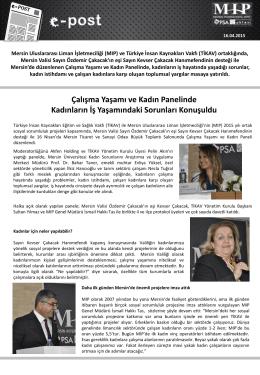 MIP & TİKAV işbirliğiyle Çalışma Yaşamı ve Kadın konulu panel