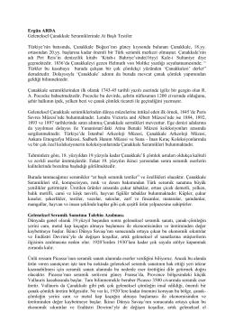 Ergün ARDA Geleneksel Çanakkale Seramiklerinde At Başlı Testiler
