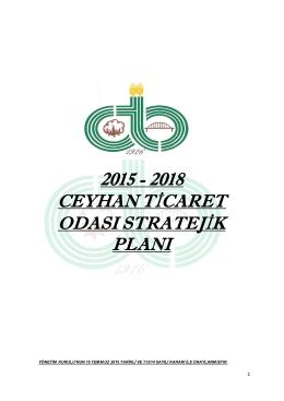 Stratejik Plan 2015 - Ceyhan Ticaret Odası