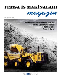 Sayı 32 - TEMSA İş Makinaları, Forklift ve Hybrid Makinaları