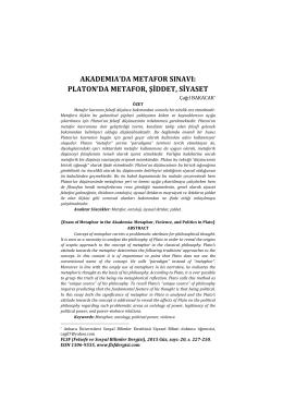 Tam metin/full text - Flsf-Felsefe ve Sosyal Bilimler Dergisi