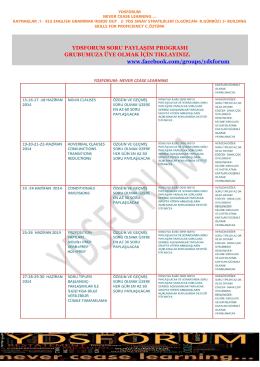 ydsforum conjunctıons and adverbıal clauses ders notları