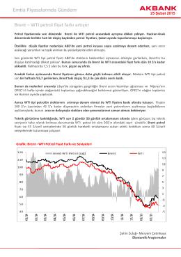 Emtia Piyasalarında Gündem Brent – WTI petrol fiyat farkı artıyor