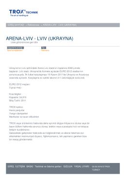 ARENA-LVIV - LVIV (UKRAYNA)
