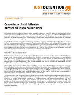 Cezaevinde cinsel istismar - Just Detention International