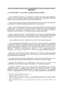 492 sayılı harçlar kanunun 23.maddesinin uygulanması ile ilgili