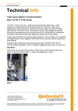 Triger kayışı değişimi montaj tavsiyeleri - Opel 1,8i - Autoteile-vor-Ort
