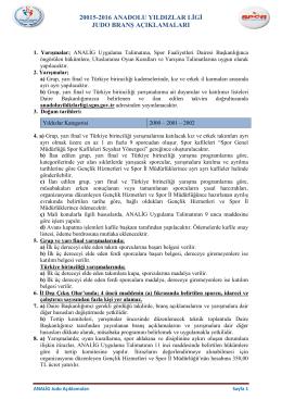 Talimat - Analig - Spor Genel Müdürlüğü