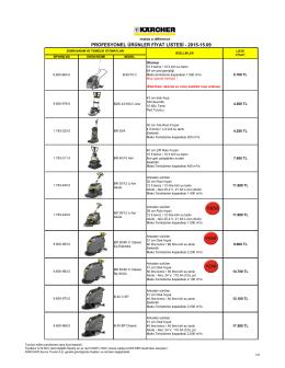 karcher ekim 2015 fiyat listesi