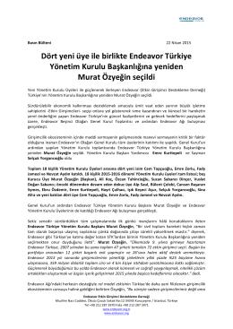 Dört yeni üye ile birlikte Endeavor Türkiye Yönetim Kurulu