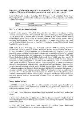( iki – dört aralık) - euygulama.dpb.gov.tr