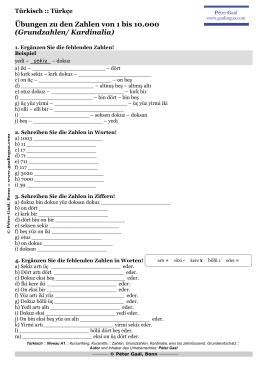 DaF A1 Zahlen Grundzahlen Übungen 1