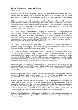 Türkiye`de Toplumsal Cinsiyet ve Kalkınma Selma Acuner* Türkiye