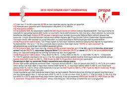 Propa Kayıt Kampanyası 2015