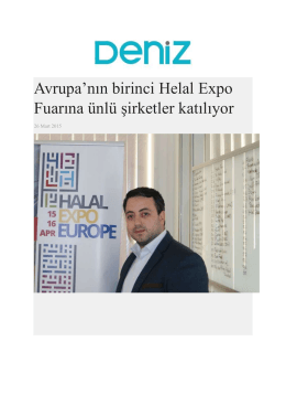 Avrupa`nın birinci Helal Expo Fuarına ünlü şirketler katılıyor