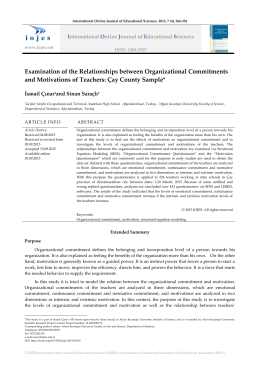 Examination of the Relationships between Organizational