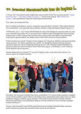 15 Kasım 2015 Pazar günü İstanbul caddelerinde maratoncularla