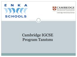 Cambridge IGCSE Program Tanıtımı