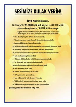 SESİMİZE KULAK VERİN! - SMMM Odaları Platformu
