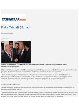 PLAKA TAHDİDİ -Taşımacılar.com
