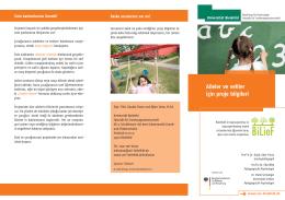 Aileler ve veliler için proje bilgileri