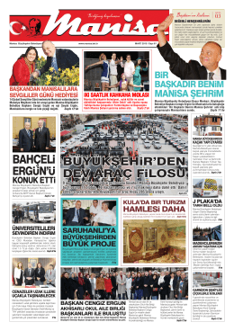 Mart Sayısı - Manisa Belediyesi
