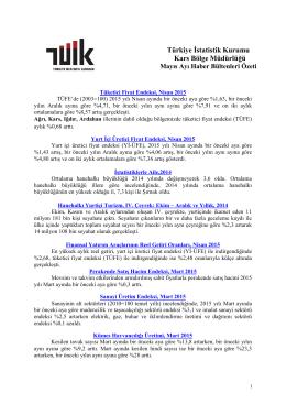 2015 Mayıs Ayı Haber Bülteni Özeti