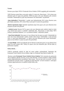 Haziran ayına ilişkin TEPAV Perakende Güven Endeksi (TEPE)