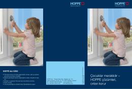 Çocuklar meraklıdır – HOPPE çözümleri, onları korur