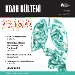 • Astım-KOAH Benzerlikleri • KOAH ve Akciğer Kanseri Aynı