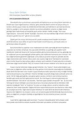 Yavuz Selim Erfidan - Liberal Düşünce Topluluğu
