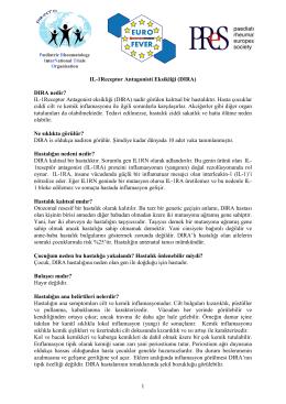 1 IL-1Receptor Antagonisti Eksikliği (DIRA) DIRA nedir? IL