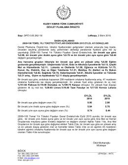 Eylül - KKTC Devlet Planlama Örgütü
