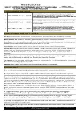 2016 yılı mdu esasları ve belge ücretlendirme ilkeleri