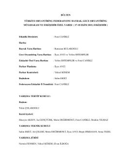17-18 ekim - Türkiye Oryantiring Federasyonu