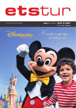 2015 Disneyland Paris Kataloğu