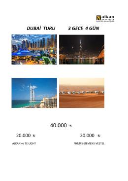DUBAİ TURU 3 GECE 4 GÜN 20.000 20.000