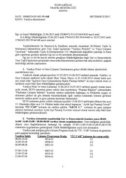 TCDD 6.BÖLGE TRAFİK MÜDÜRLÜĞÜ ADANA