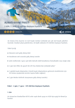 Air Astana - Turkkazak.com