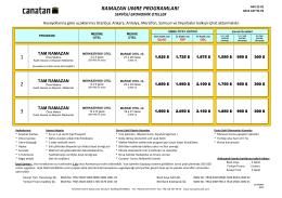 ramazan umre programları 1 2 3