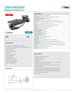 IPR206V DataSheet - Ttec Güvenlik Kameraları