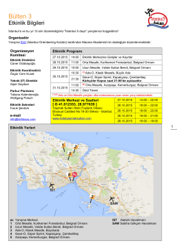 Bülten 3 - İstanbul 5 Days 2015
