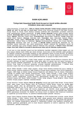 BASIN AÇIKLAMASI Türkiye`deki Hasankeyf Antik