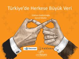 Türkiye`de Herkese Büyük Veri