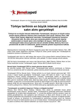 Türkiye tarihinin en büyük internet şirketi satın alımı