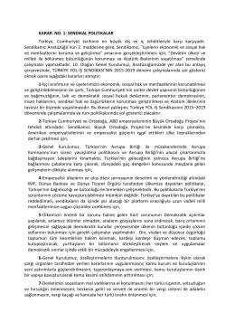 YOL-İŞ Sendikası Genel Kurul Kararları