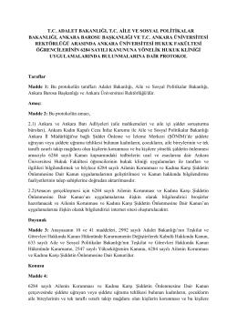 Ankara Üniversitesi Hukuk Fakültesi Öğrencilerinin 6284 Sayılı